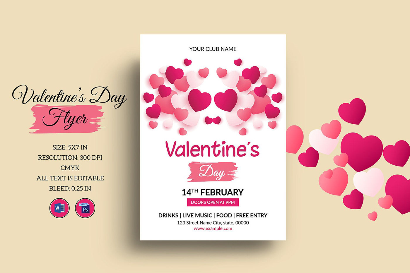 Image may contain: businesscard, template and valentine's day