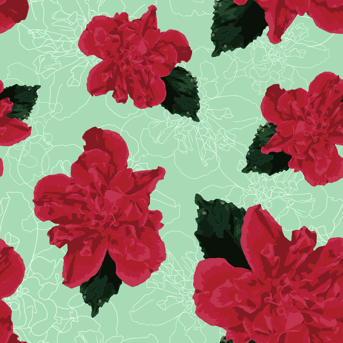 Hawaiian Garden Pattern On Behance