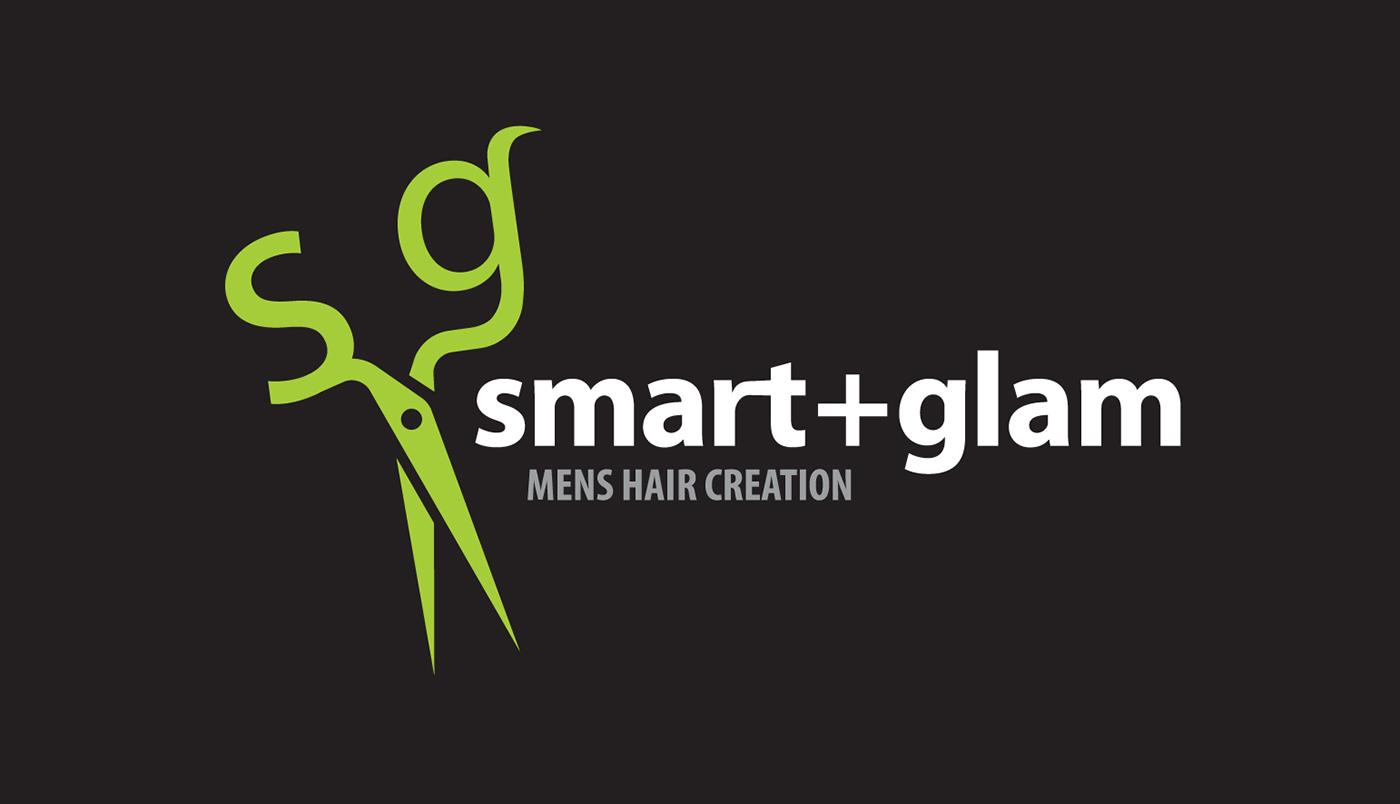 Smart Glam Mens Hair Salon Logo Business Card On Behance