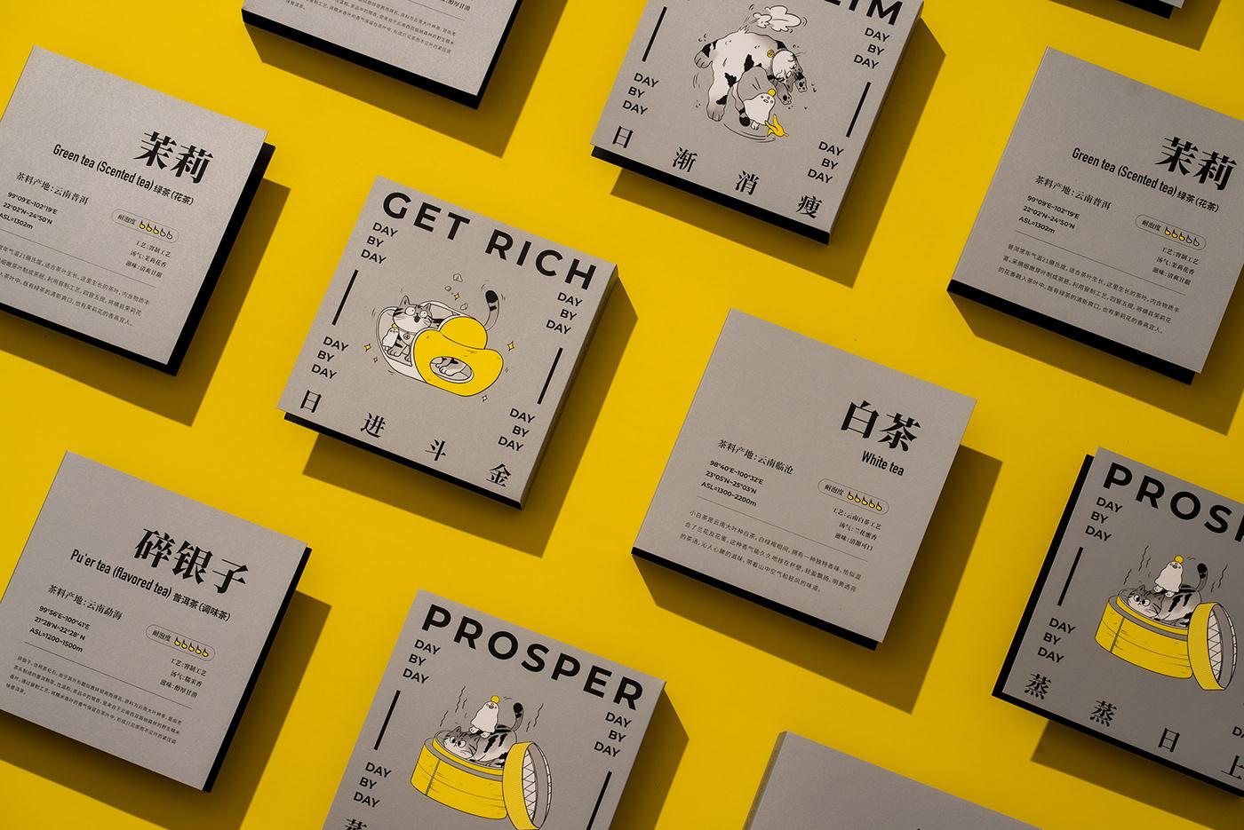 Cat Food  Illustrator Packaging tea