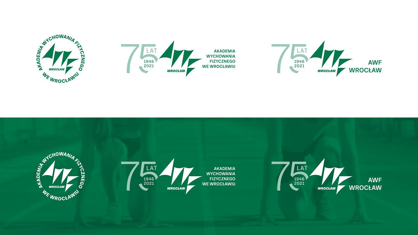 accademia AWF Education green identity identyfikacja wizualna sport study University wrocław