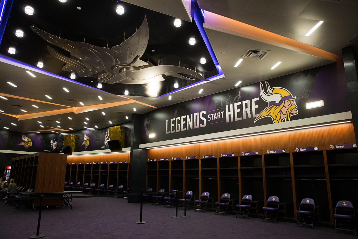 Vikings Locker Room On Behance
