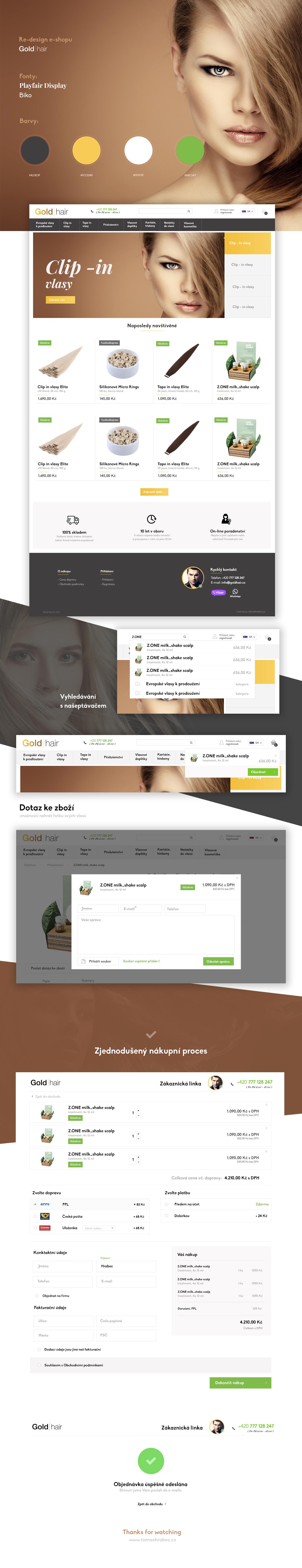 store e-shop eshop redesign re-design Website hair Responsive Design ux