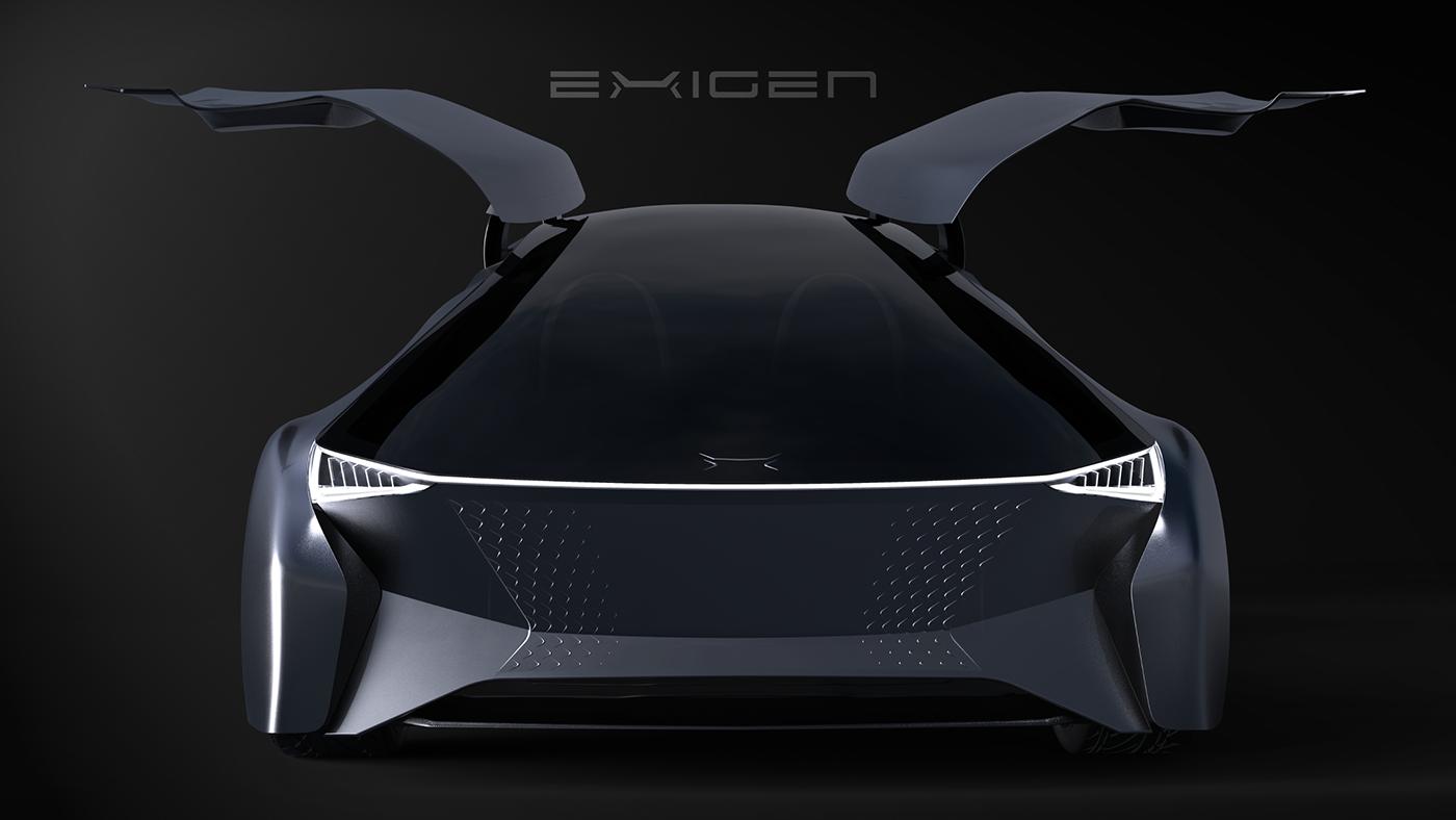 Transportation Design Automotive design concept car car concept car design future industrial design  product design  rendering graphic design
