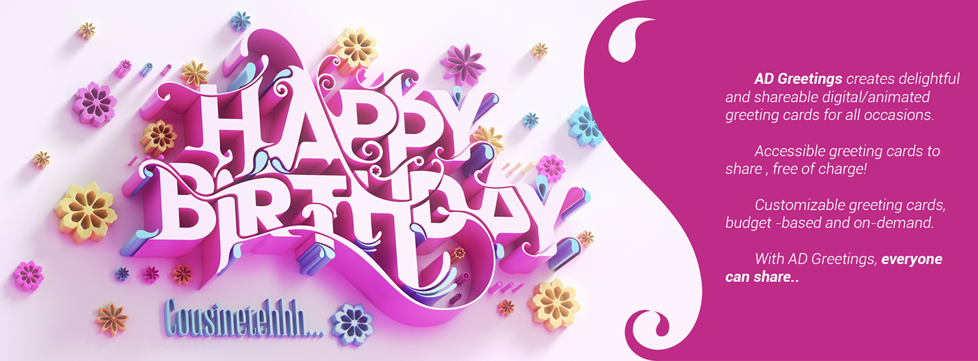 Happy birthday greeting card 2 on behance follow us on m4hsunfo