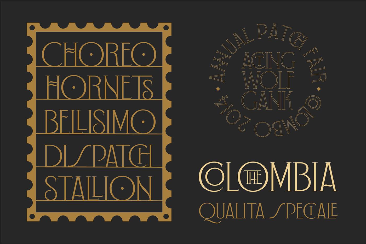 vintage vintage font font Typeface Retro Label lettering Free font art deco luxury font
