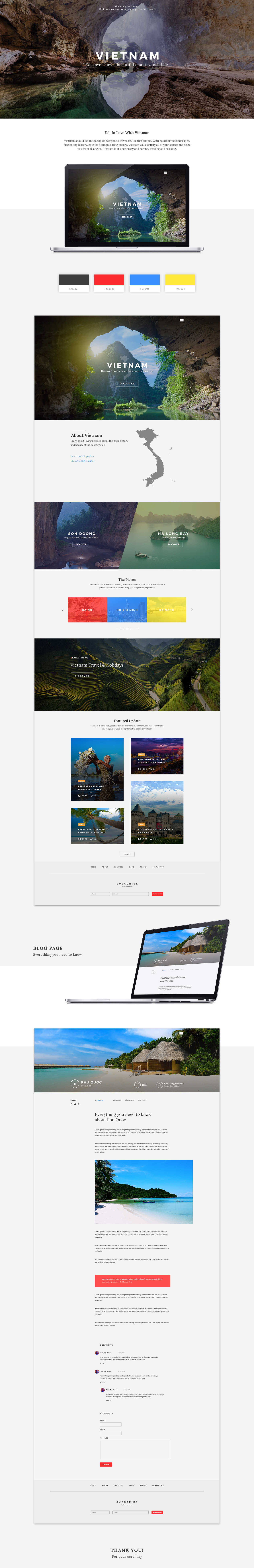 Vietnam Travel Discovery Vietnam Website Art Directon UI/UX Design