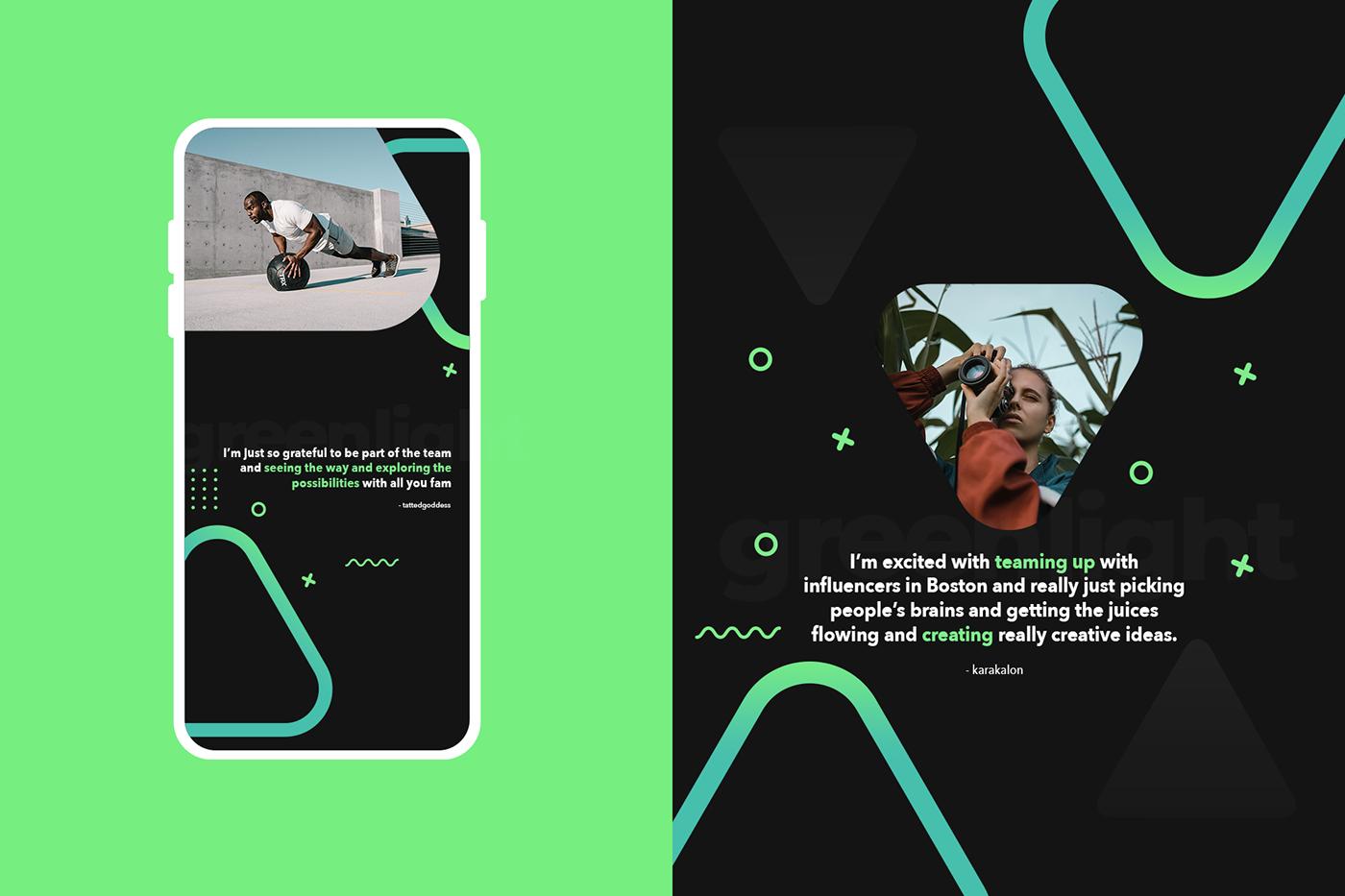 Advertising  community contentcreator greenlight influencers marketing   Socialmedia motion graphics  social media Social Media Design