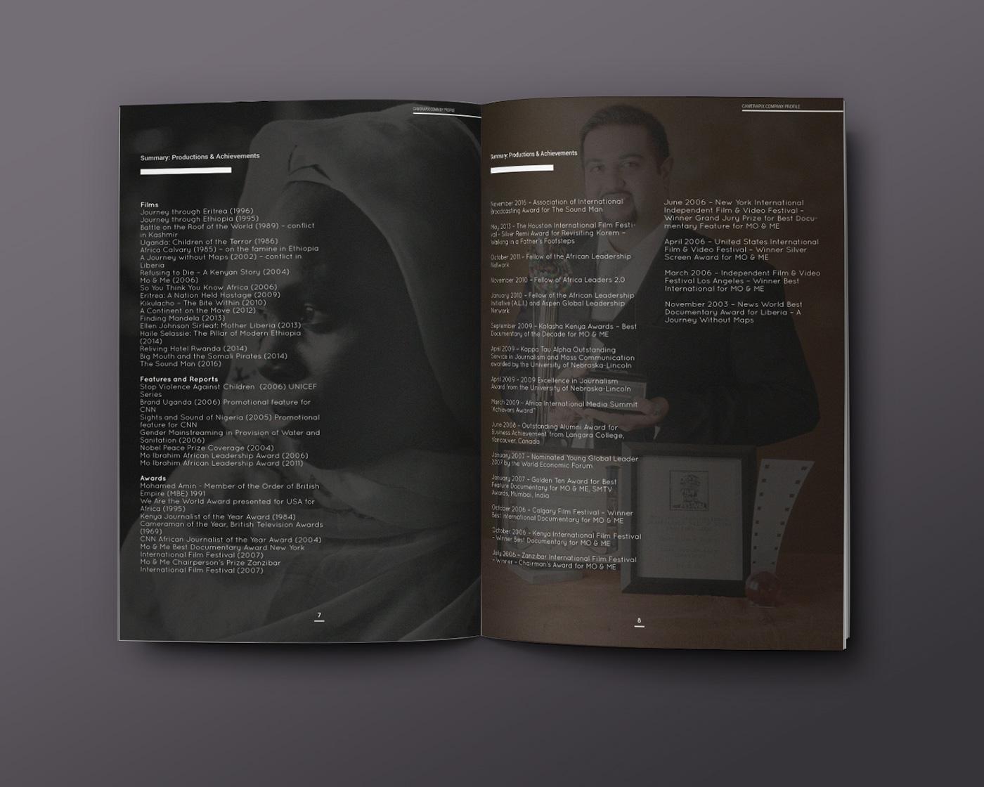 profile identity corporate company profile print magazine