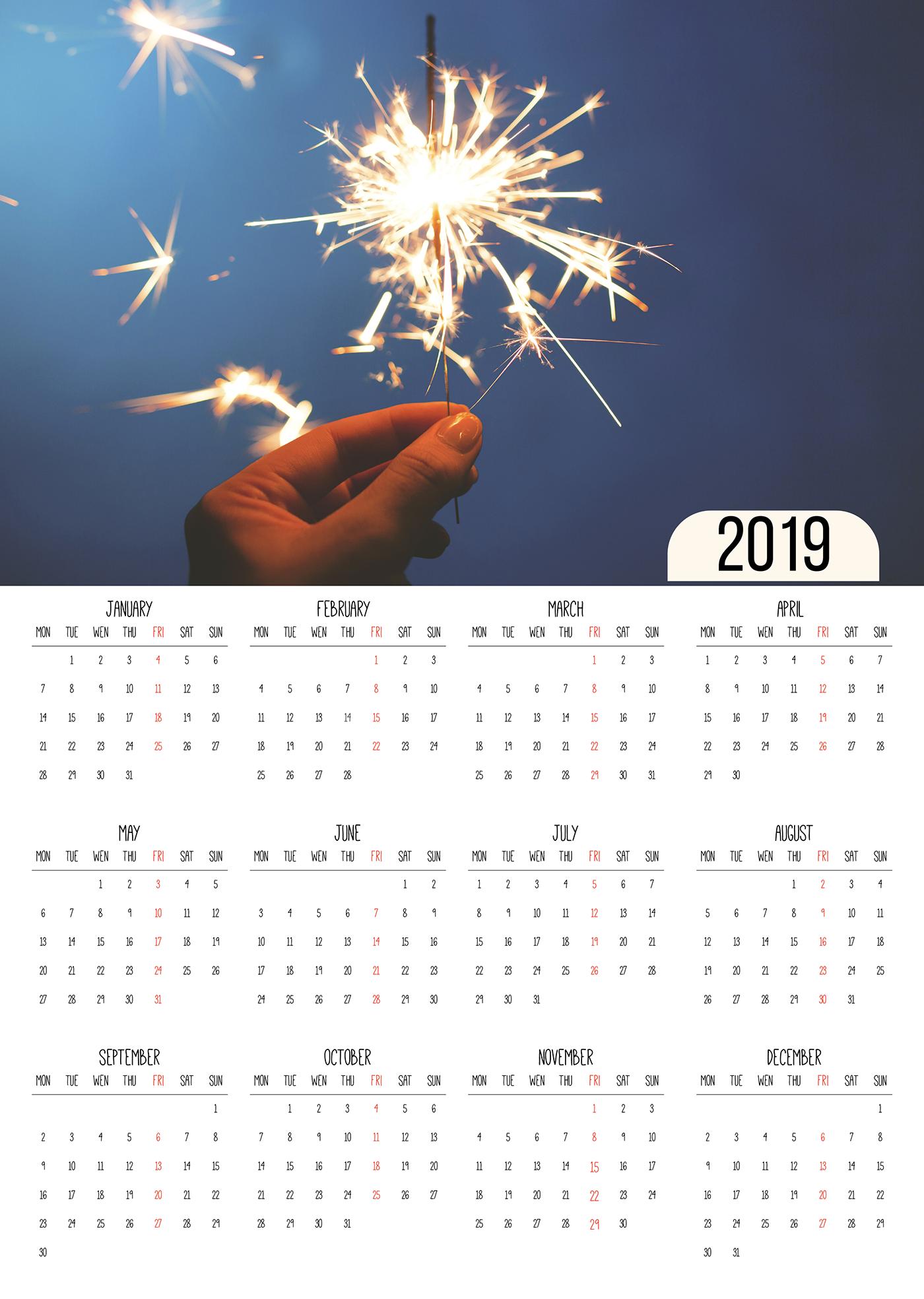 豐富的36張月曆設計欣賞