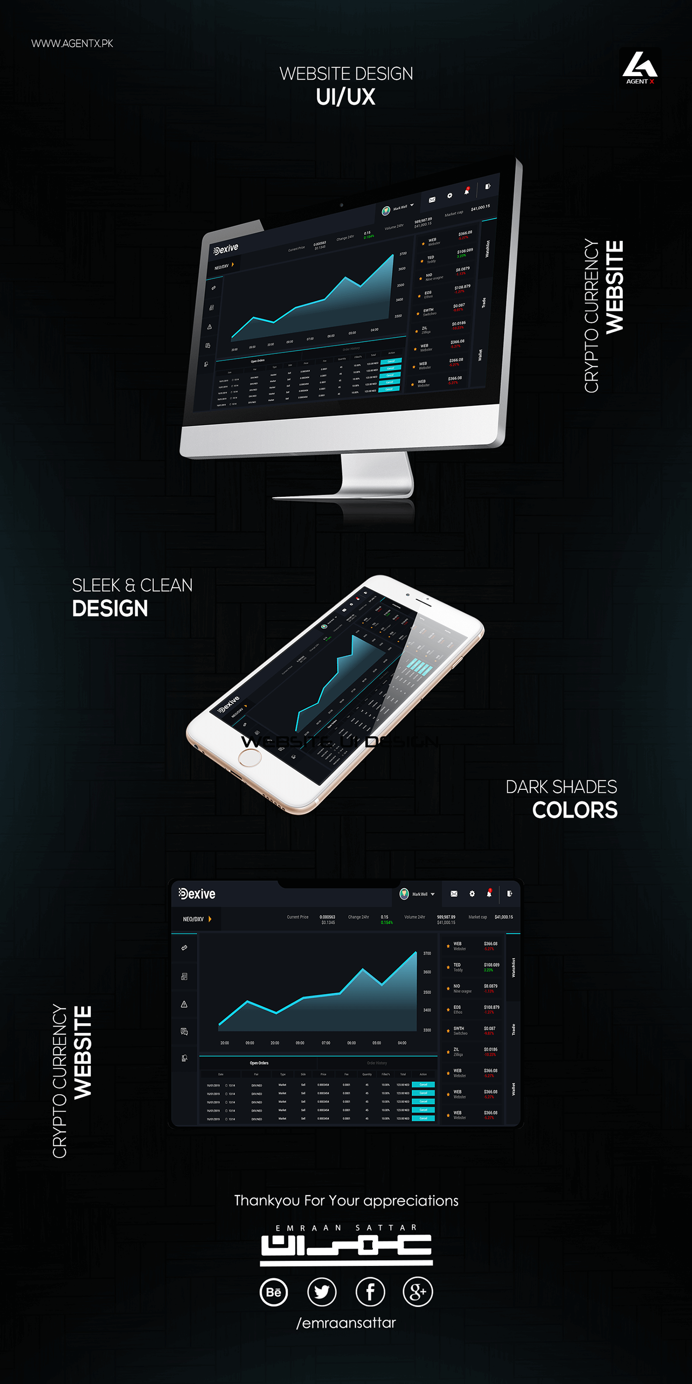 UI ux Website Web Design  Mobile Application app ios android crypto currency creative