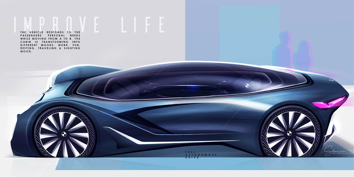 BMW future design concept car automobile Autonomous electric Grand Tourer