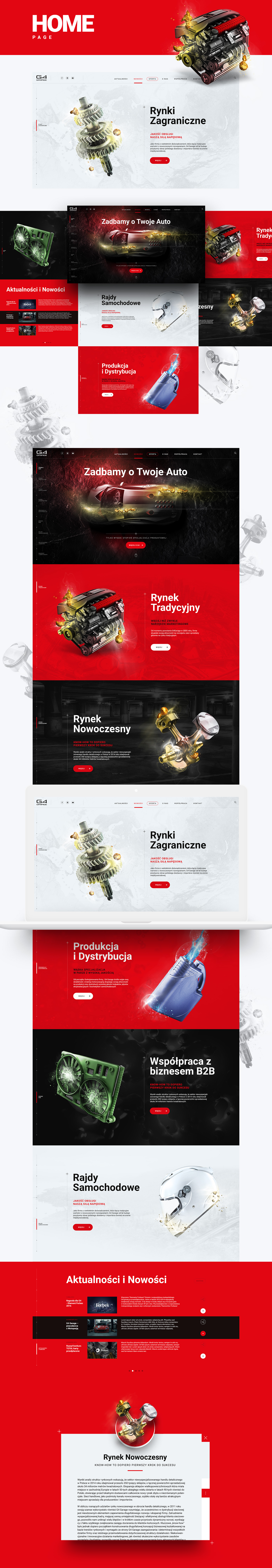 g4 garage website refresh on behance