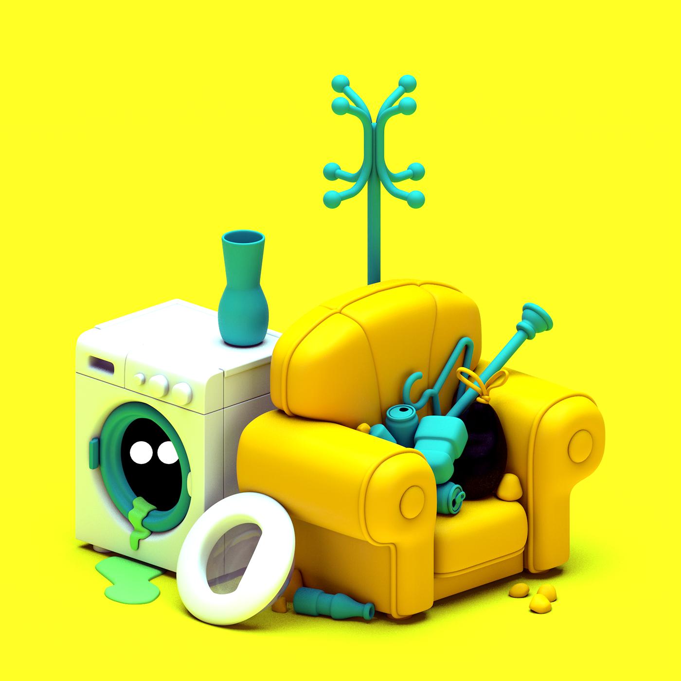 trash rubbish waste garbage Street Urban monsters dirt 3D toy