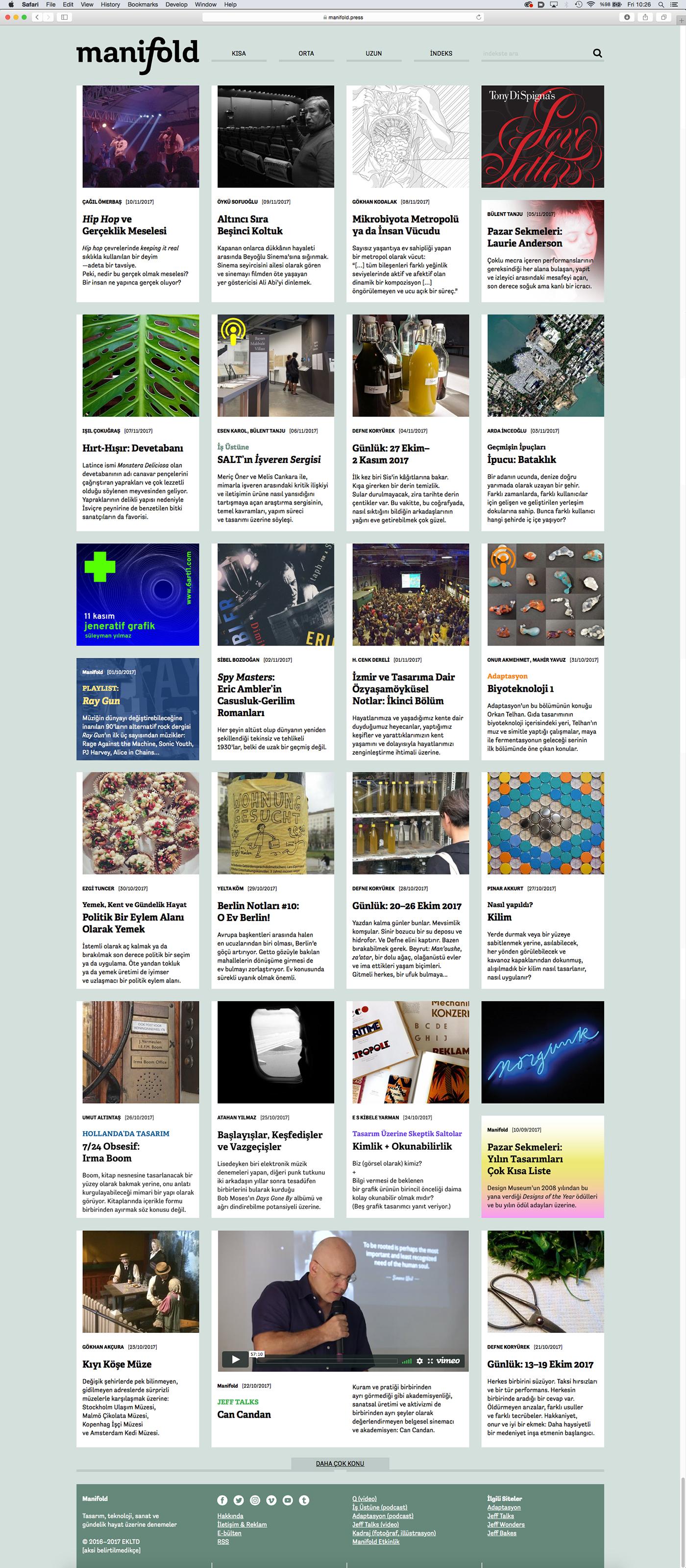 manifold Website online journal design Technology graphic design  editorial journal Electronic journal