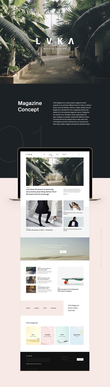 magazine Layout typography   branding  Web ux UI minimal Fashion  digital