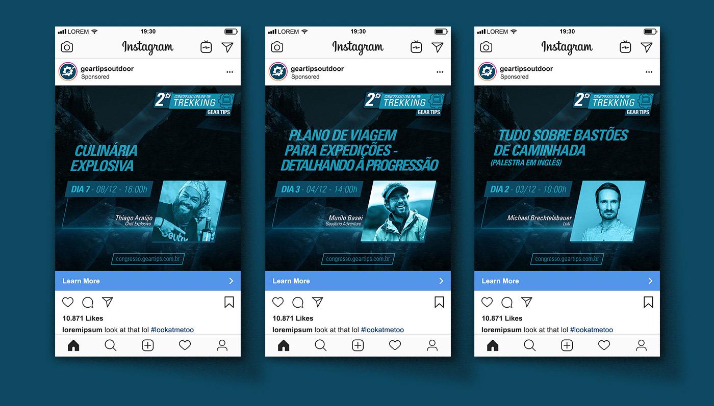 adventure congress instagram landing page online social media sports Stories trekking