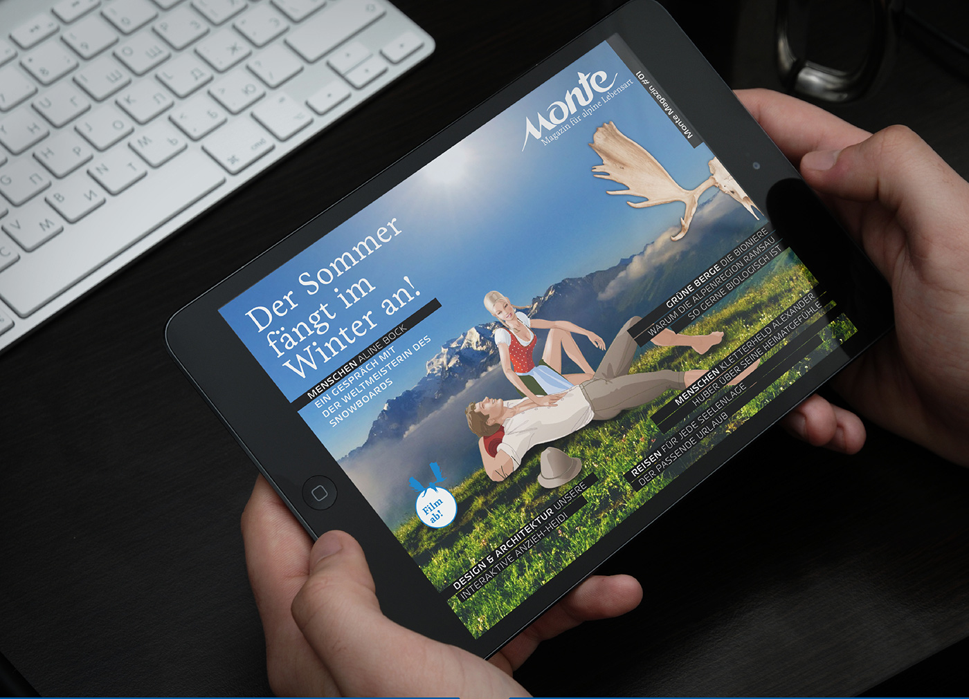 Adobe digital publishing app 2issue monte magazin DPS tablet iPad