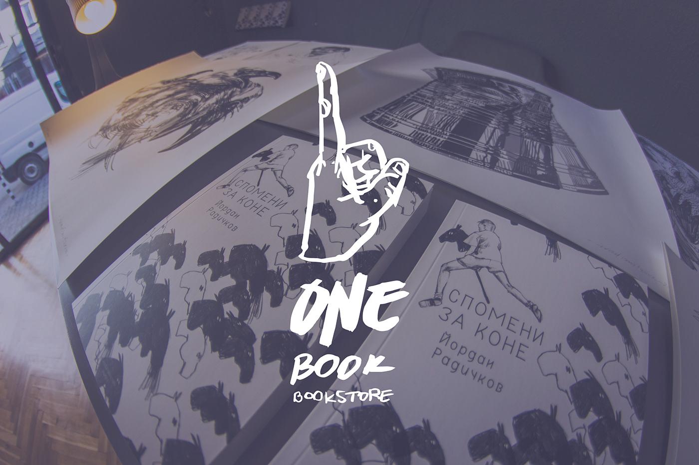 black and whitte freehand Gaphic Design iva dimitrova logo small bookstore