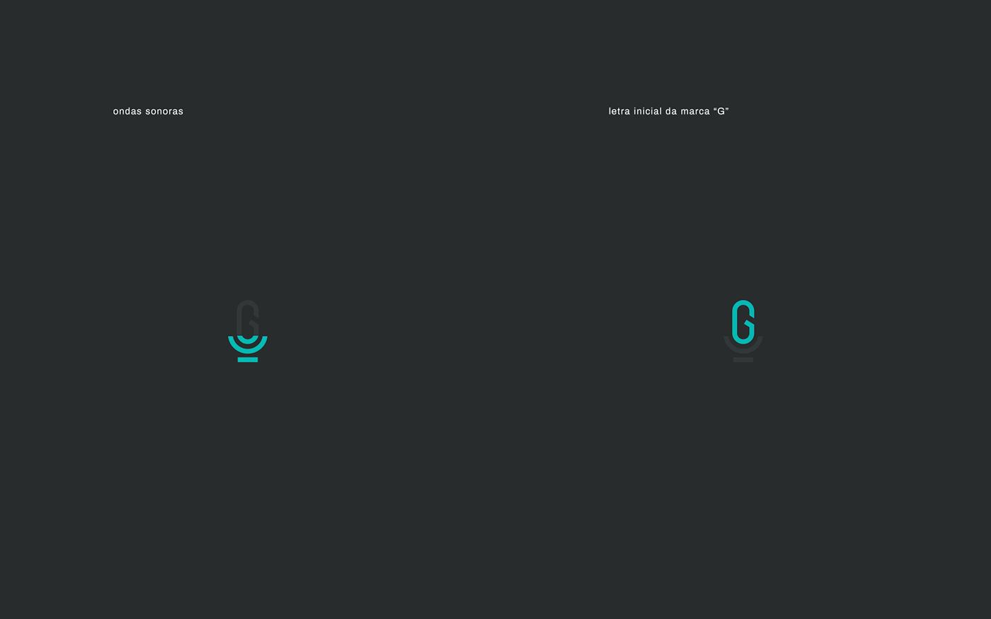 graphic locutor microfone Radio type voice branding  identidade visual logo Logotipo