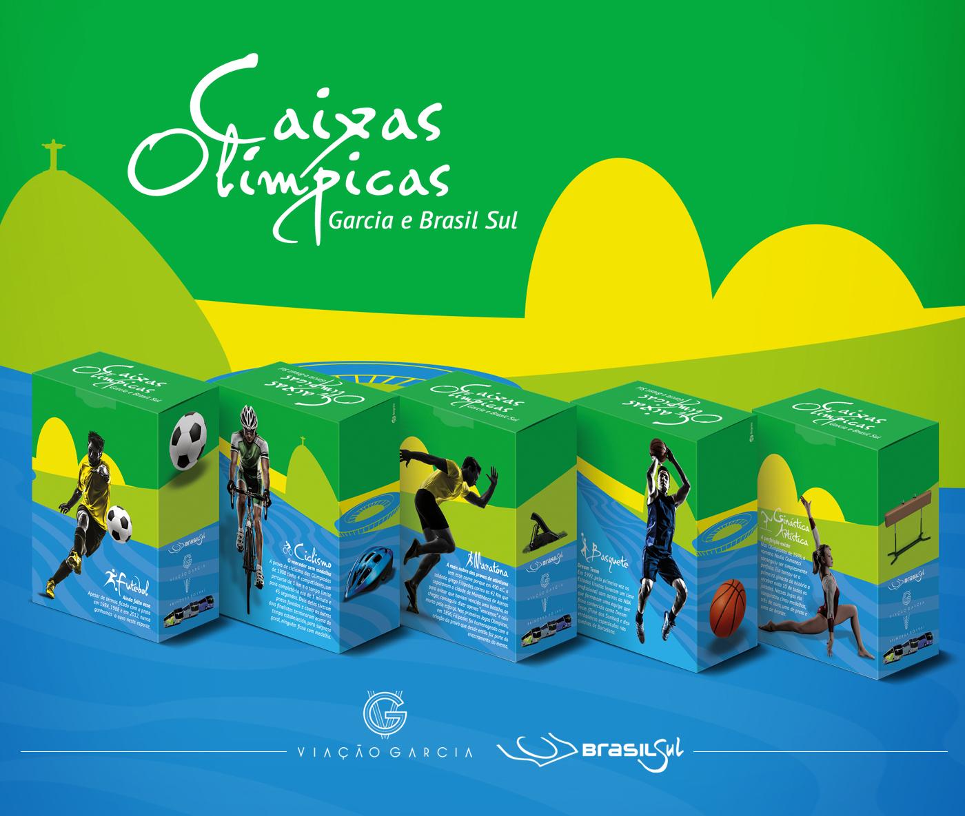 embalagem desing graphicdesign olimpiadas Brasil Sul Viação Garcia Esporte rio2016