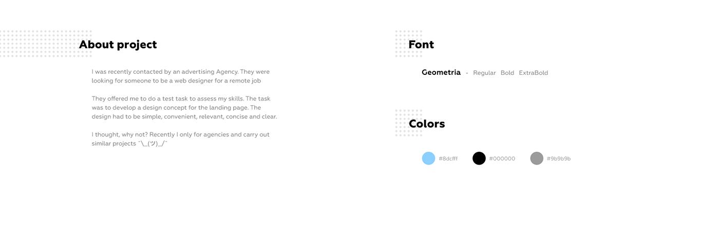 landing page web-design minimal UI animation  agency