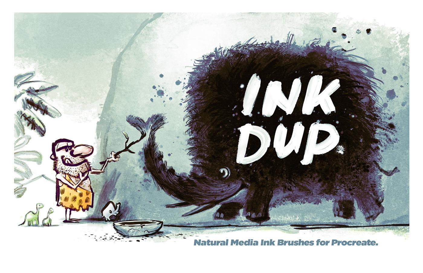 INK DUP: Natural Media Ink Brushes for Procreate  on Behance
