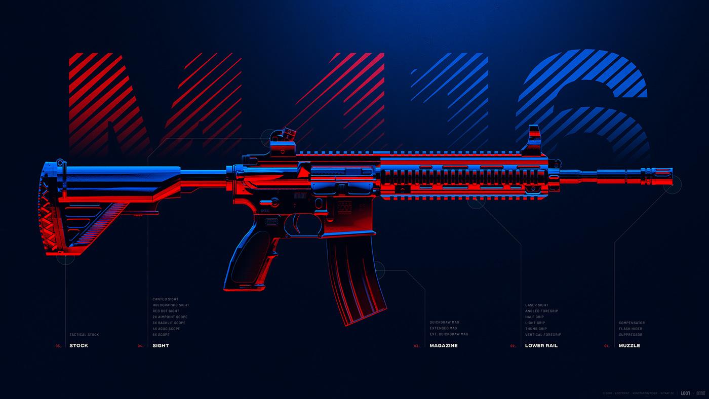 Battleground Weapons Pubg Wallpapers On Behance