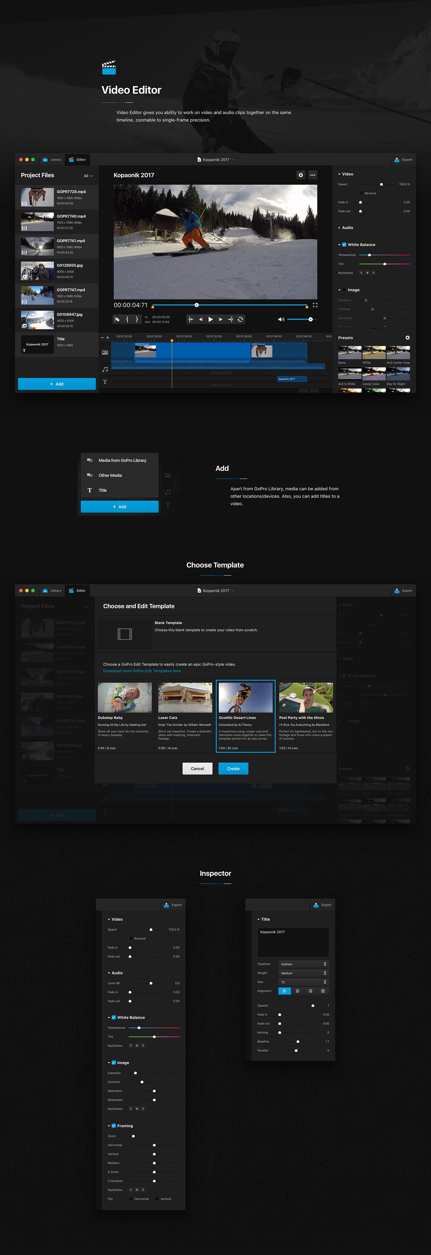 gopro mac app macos concept redesign studio UI ux Interface