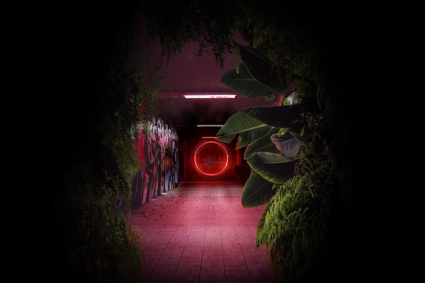 neon surreal conceptual concept Digital Art  photomanipulation