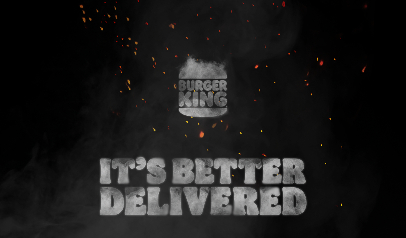 ADV BBQ Burger King dooh Fast food fire flame grill OOH whopper