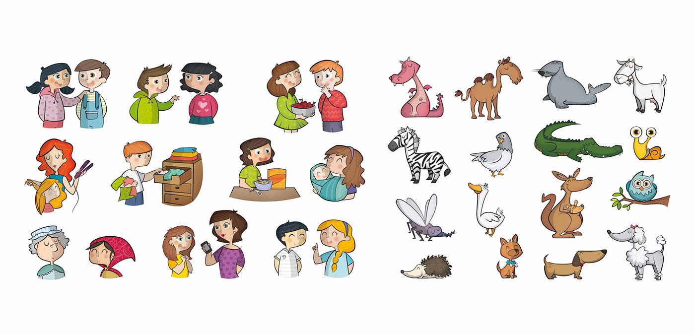 ilustracion libro de texto educación editorial