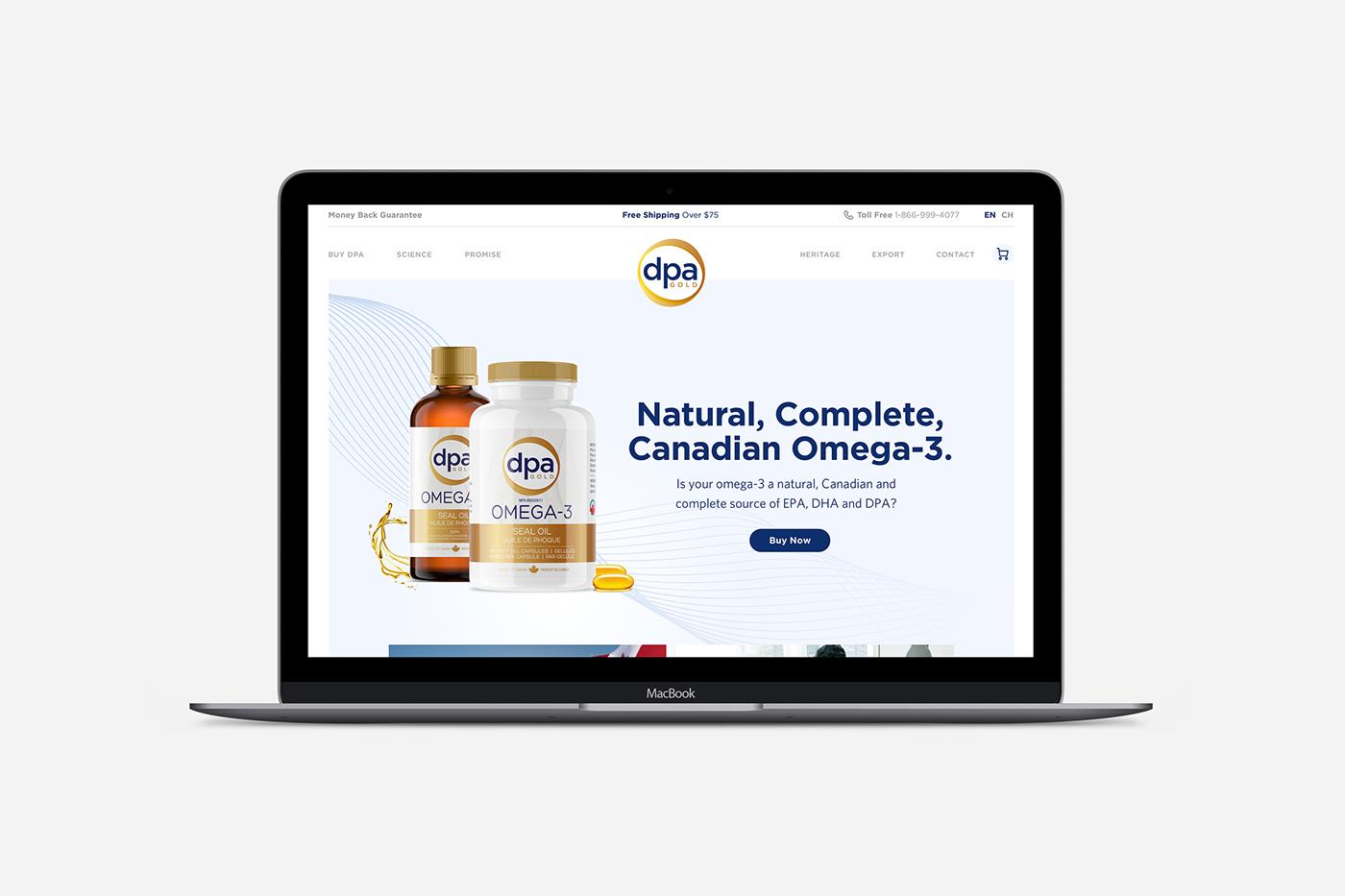 Health Wellness vitamin capsule Website Web Design  Website Design clean