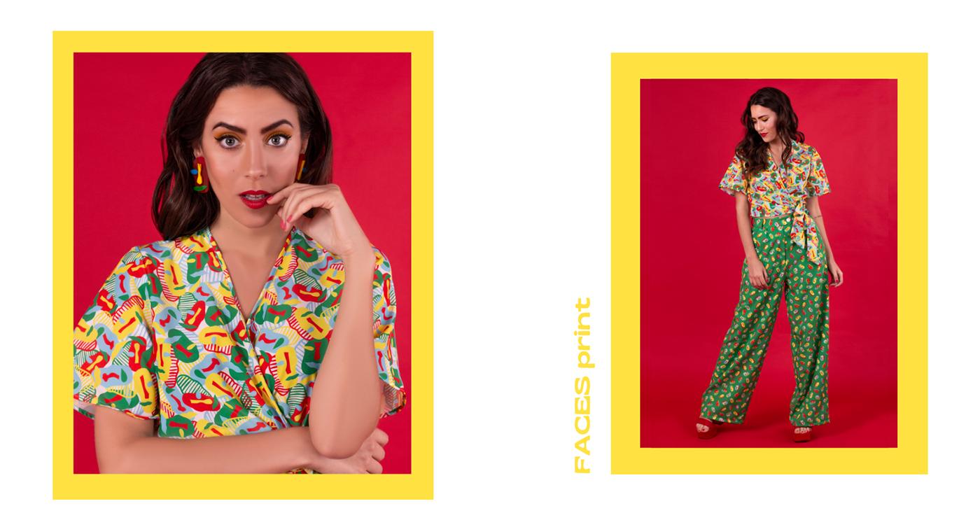 bold Clothing colorful fashion design fashion photography ILLUSTRATION  pattern printed clothes sublimation textile design