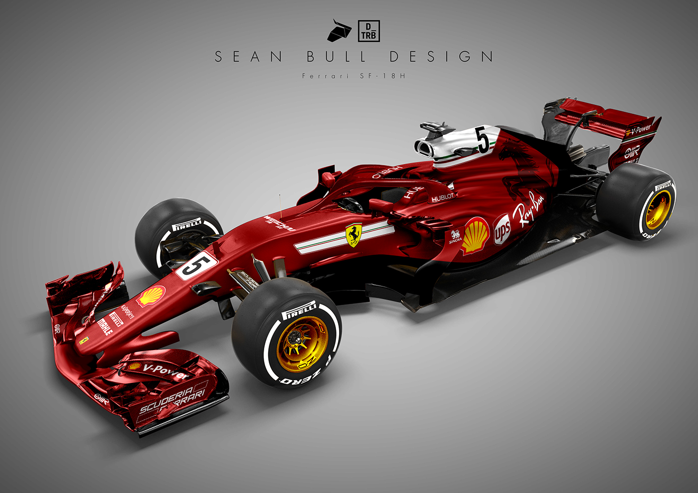 ferrari sf18h 2018 concept livery on behance. Black Bedroom Furniture Sets. Home Design Ideas