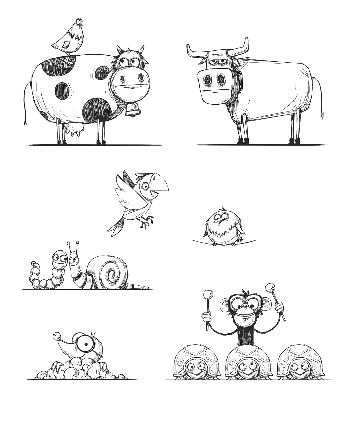 animal Candy craft farm kids song sperlari stopmotion Ukulele Character design