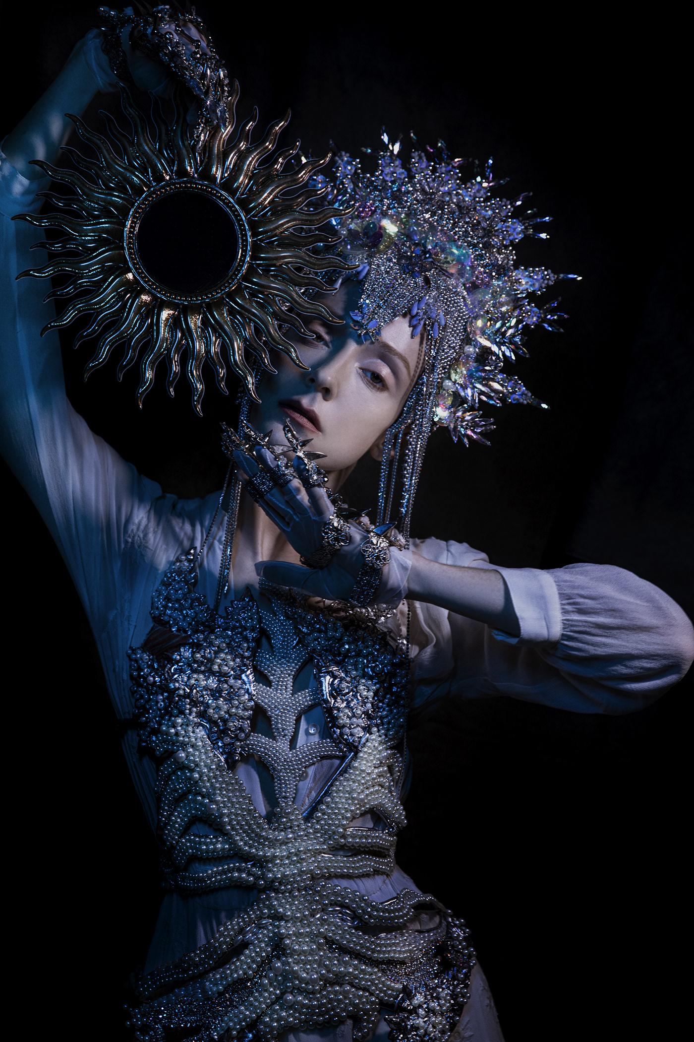 art corset crown DANCE   Folklore medival pearl Princess scull