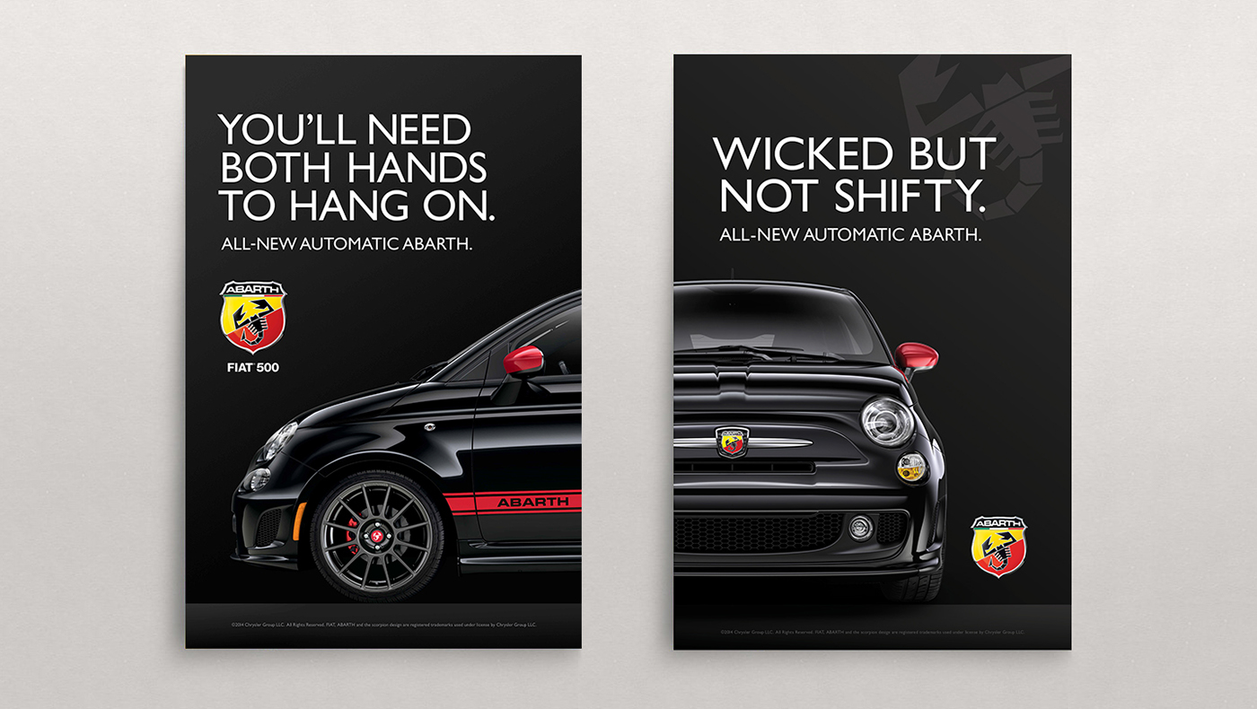 automotive   fiat car print pop pos poster