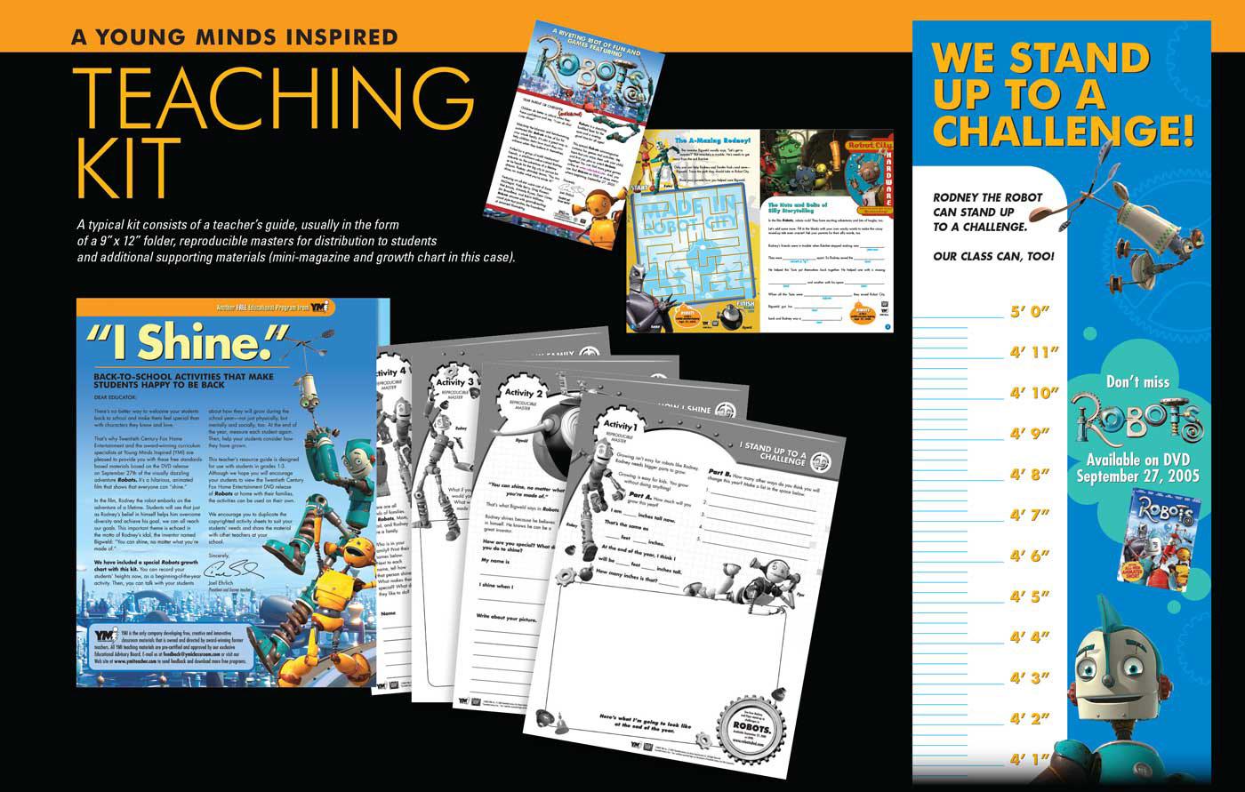 Collateral print brochure teaching materials robots Josh Beatman Brainchild Studios Education
