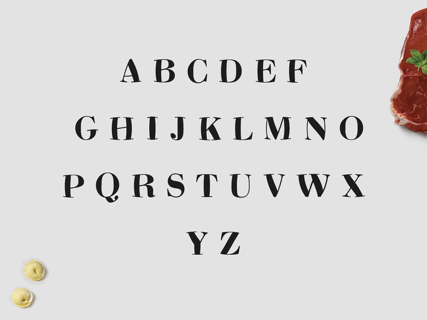 font Typeface free cyrilmikhailov cartoon Pelmehki funny Food  serif antiqua Mockup freedie bodoni modern dealjumbo