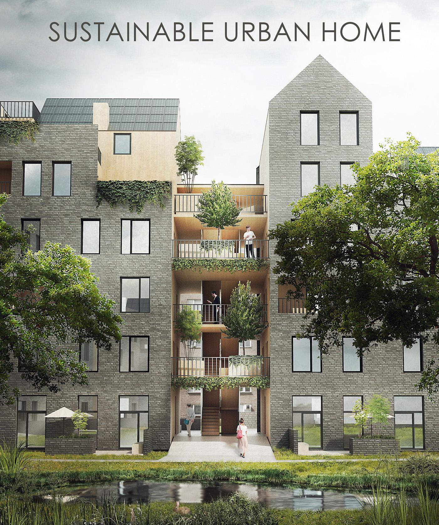 Eco Urban Home In Seattle Washington: Sustainable Urban Home On Behance