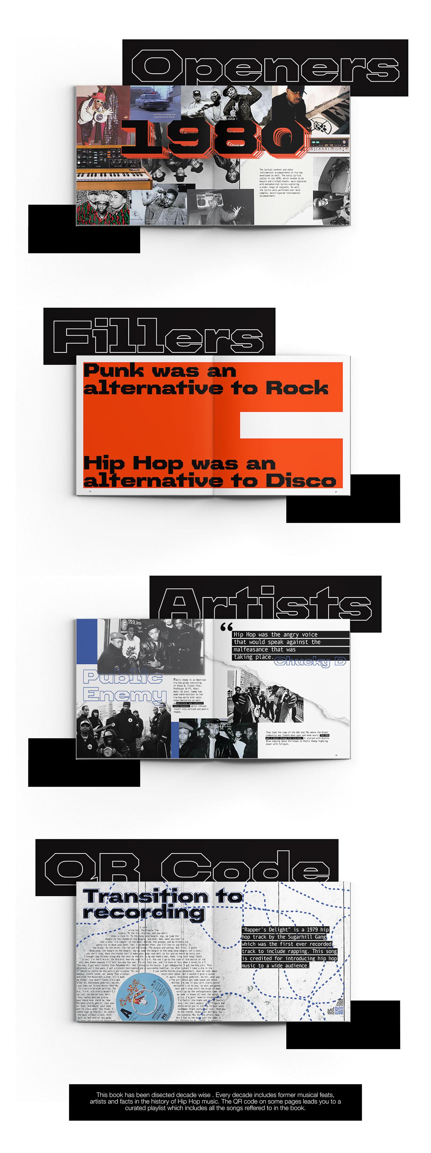 book design publication design counterprint aiga collagework music hip hop typography   adobeawards