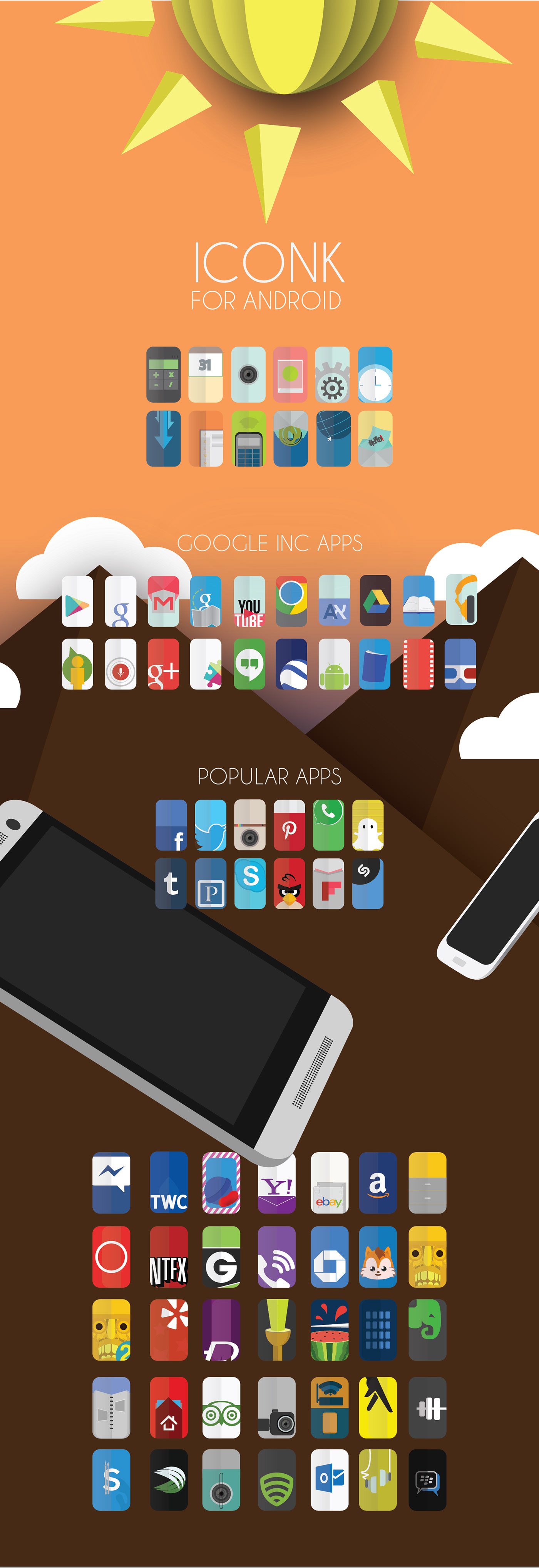 Icon icons android phone smartphone simple minimalist apps app application google ios design clean