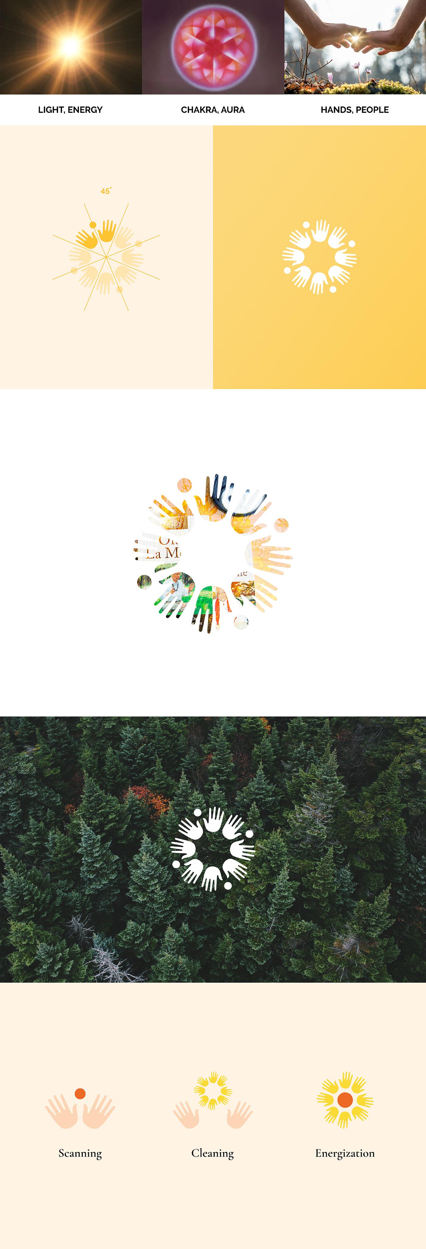 branding  logo UI ux Website Wellness meditation Health hands