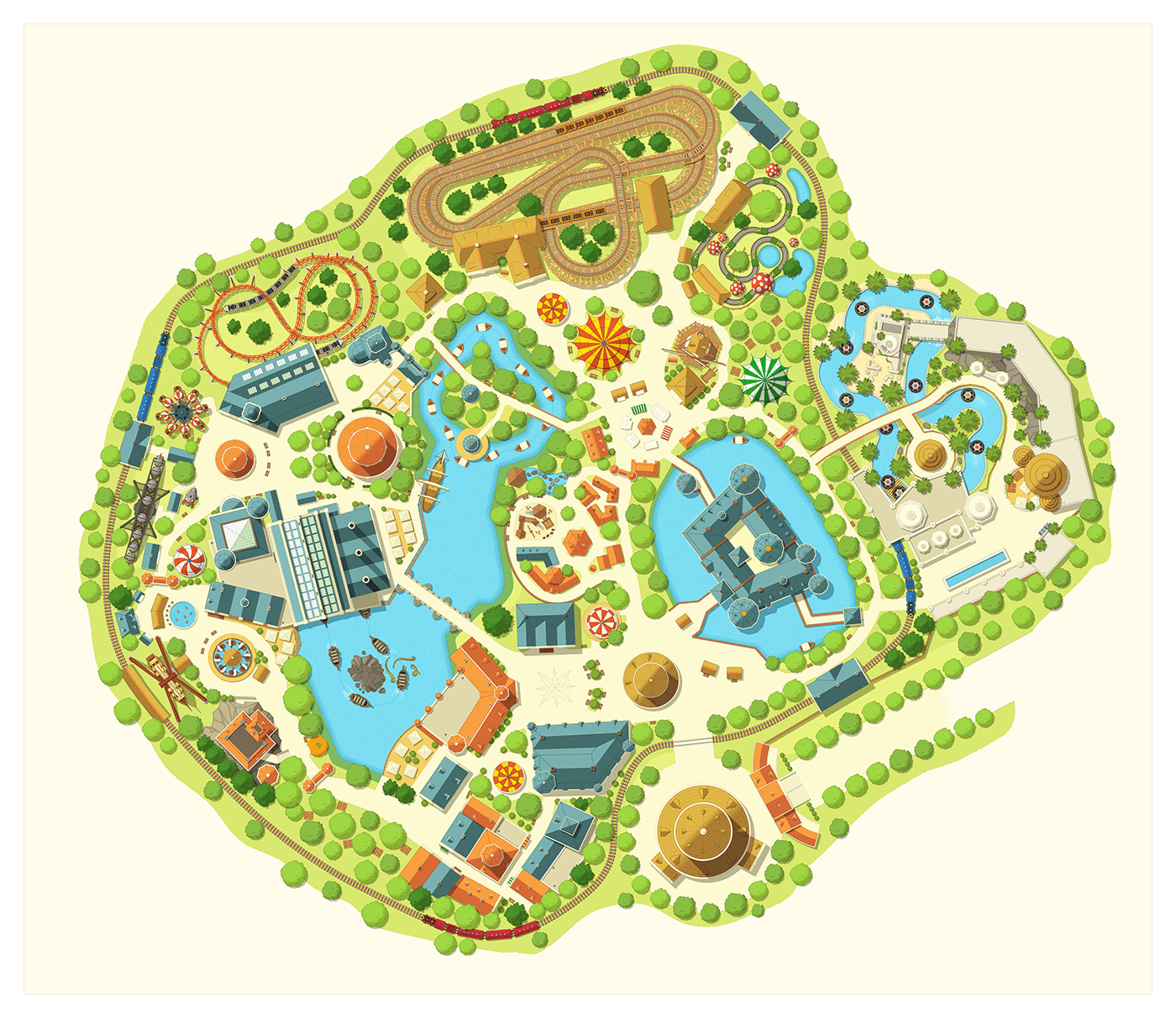 cartography map Theme Park attraction park festival resort