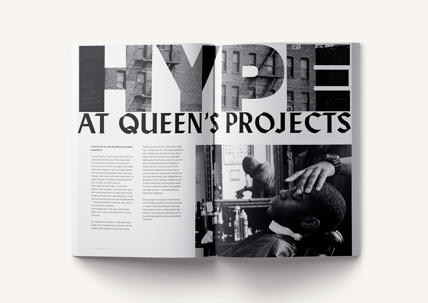 magazine editorial graphic design  art direction  paper barber the barber culture press Web app