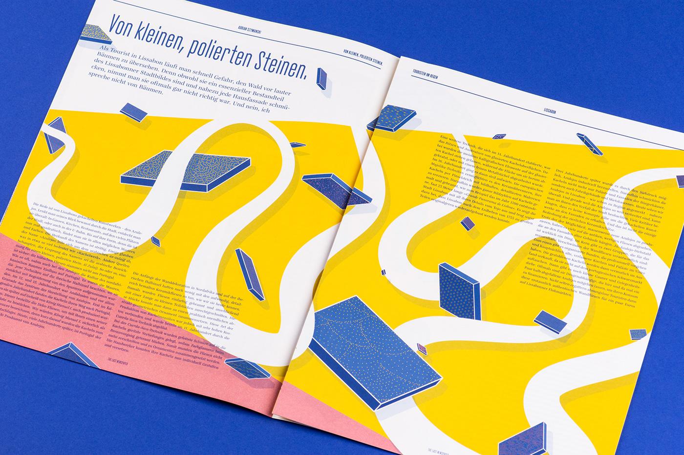 editorial print magazine graphic ILLUSTRATION  Lisbon Portugal journalism   ArtDirection