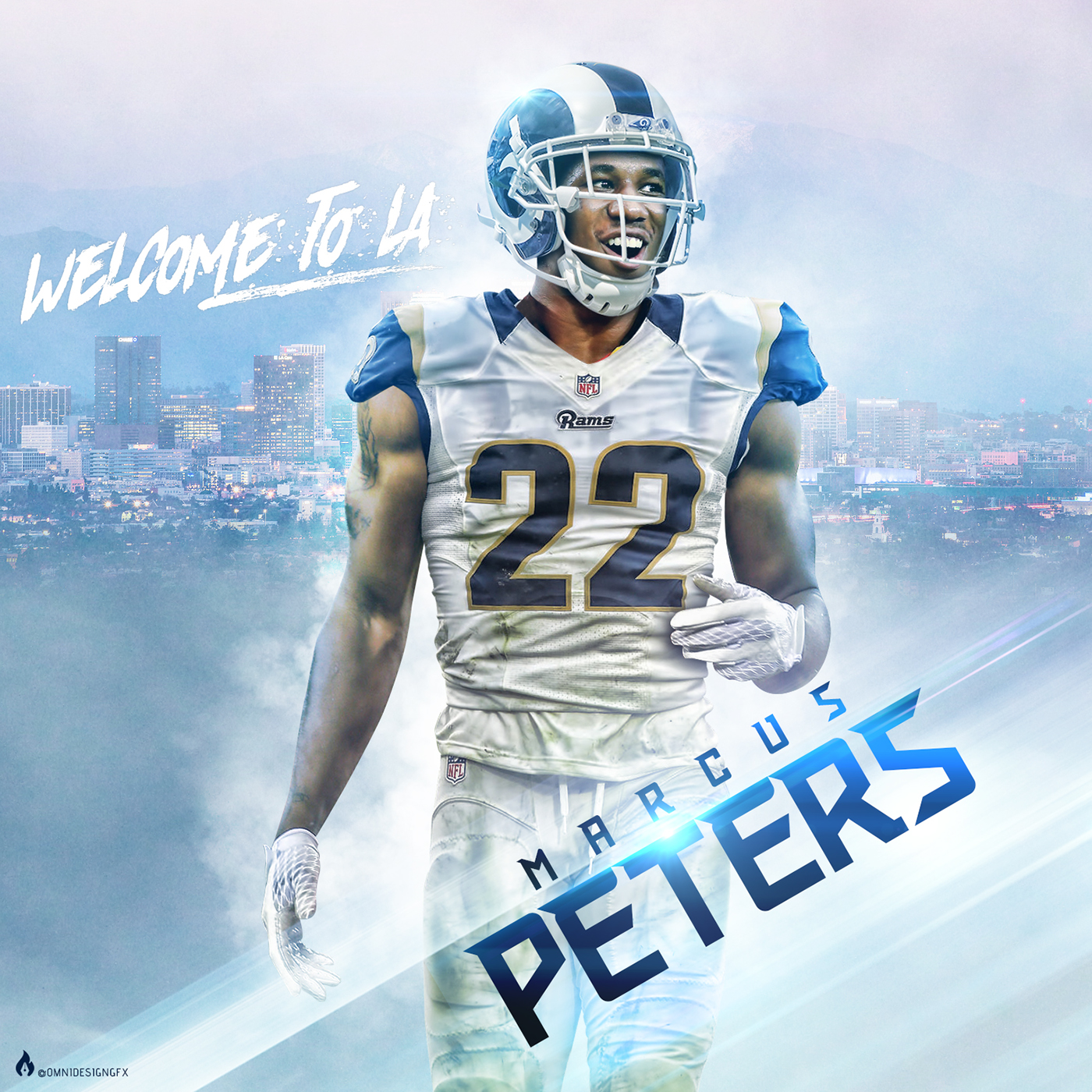 4a9987f0 marcus peters NFL game Nike player Jersey