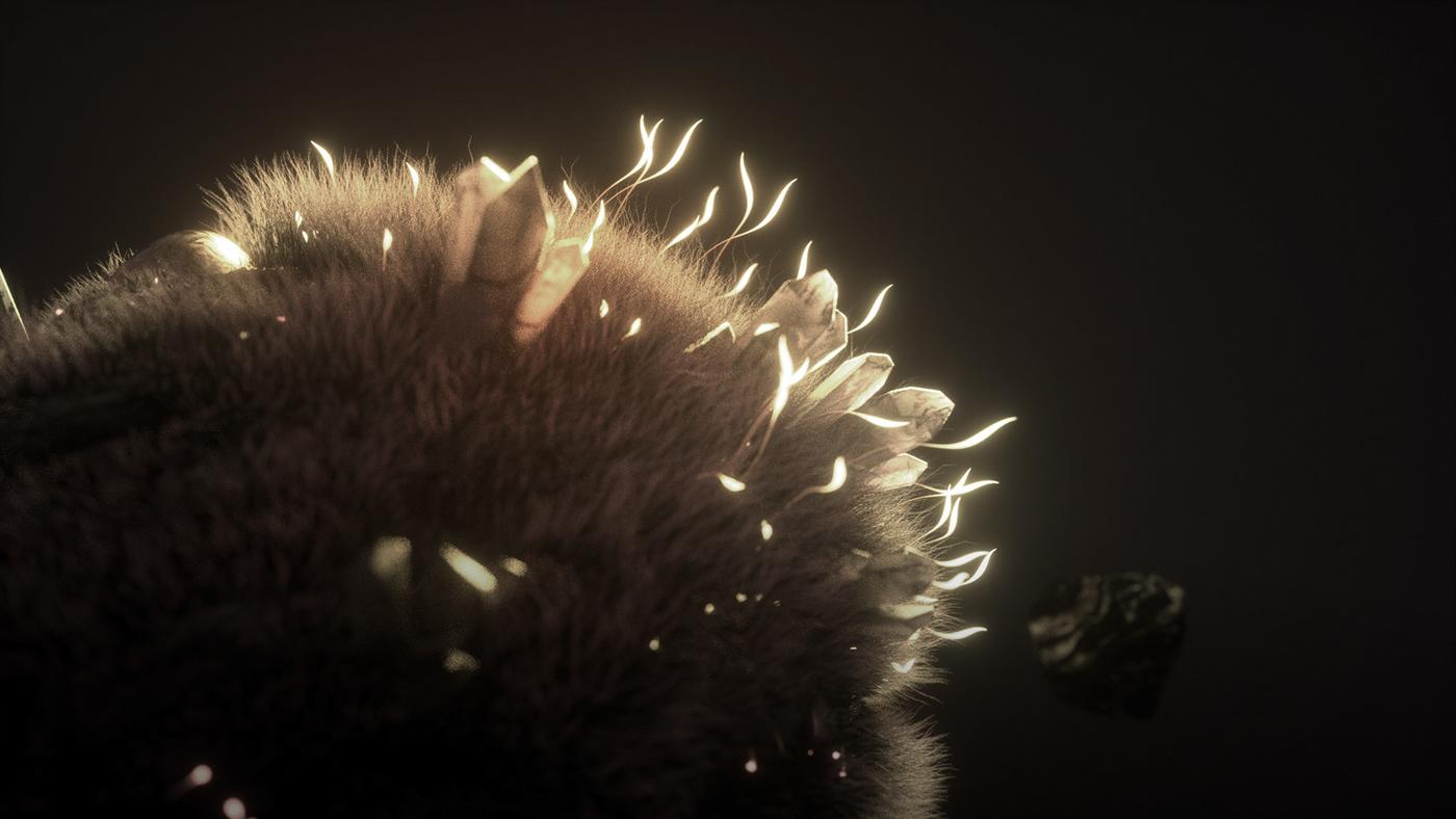 music video animation  3d animation Piano organic MoGraph cinema4d fluffy Nature motion design