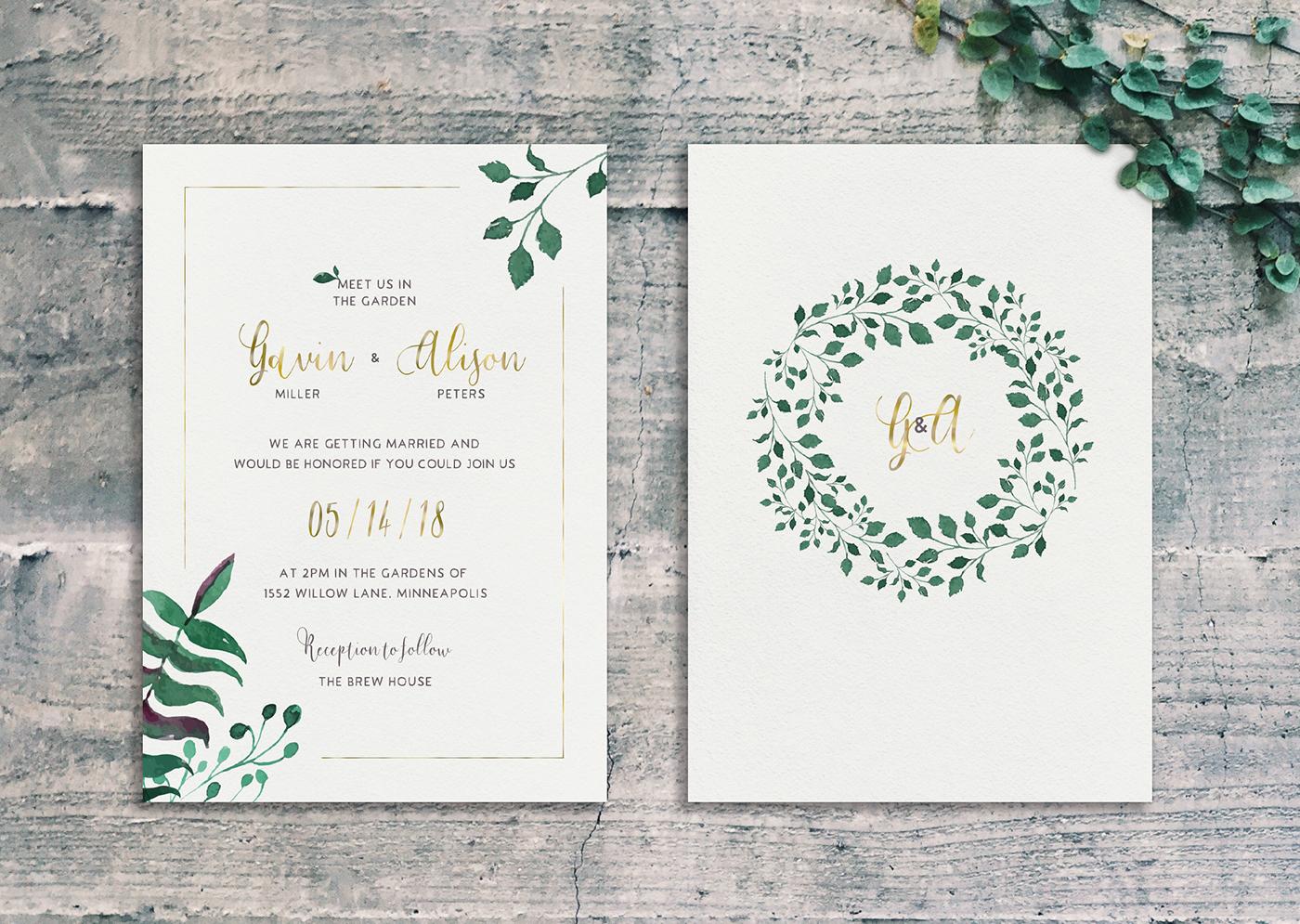 Garden wedding: Gavin & Alison on Behance